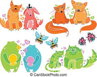Valentine animals set series