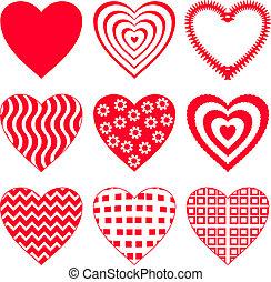 Valentine heart, set 2