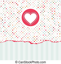 Valentine's card with copy space. EPS 8