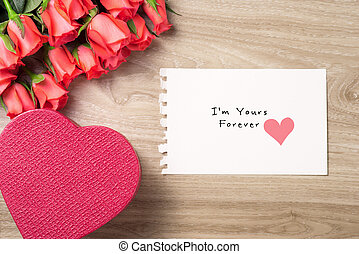 Valentine's Day Background with Bouquet of red roses