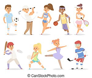 Various sports people.