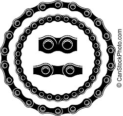 vector bicycle chain seamless silhouettes