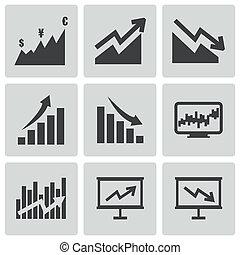 Vector black economic icons set