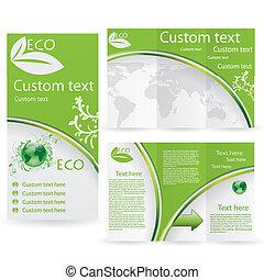 Vector Brochure Layout Design Template green environmental