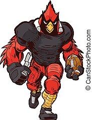 Vector Football Cardinal Mascot
