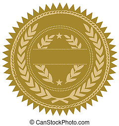 Detailed vector gold seal, easy to edit.