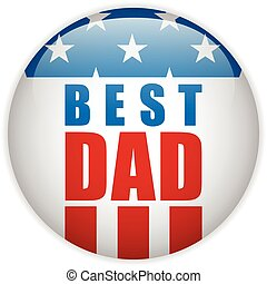 Happy Fathers Day USA American Dad