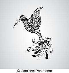 Vector Hummingbird