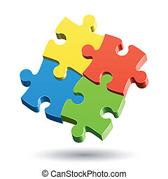Vector illustration of a Jigsaw Puzzle