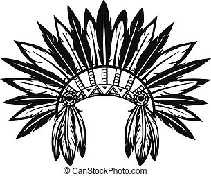 Vector illustration of an Indian headdress on a white background
