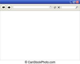 Vector illustration of an internet browser