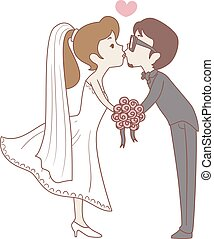 Bride and Groom Kissing Pose