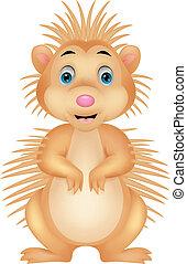 Cute porcupine cartoon