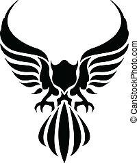 vector illustration of eagle tattoo
