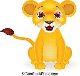 Funny baby lion cartoon