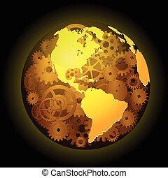 Gear earth background