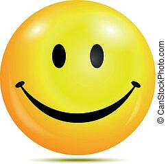 Vector illustration of Happy smiley emoticon