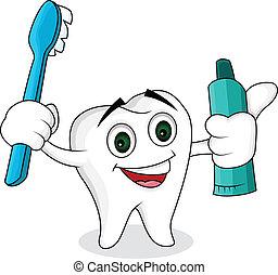 tooth cartoon character