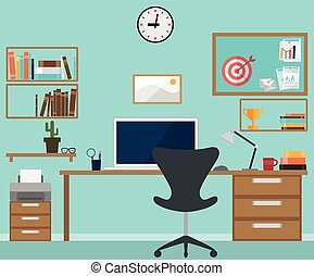 Workspace interior with office