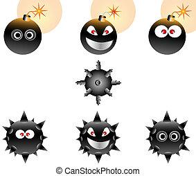 Vector Illustration set of Cartoon