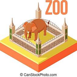 Zoo Elephant isometric icon