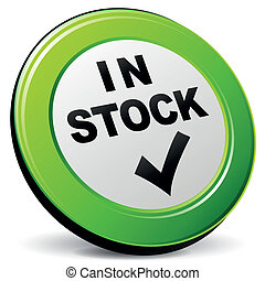 Vector illustration of green and black in stock icon