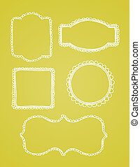 Vector Lace Hand Drawn Borders