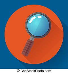 Vector Magnifying Glass Search Icon. Flat design style
