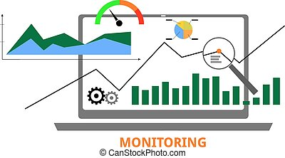 An illustration showing a monitoring concept