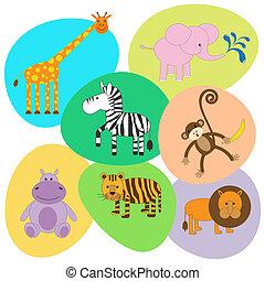Vector set of cute animals