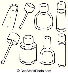 vector set of nail polish