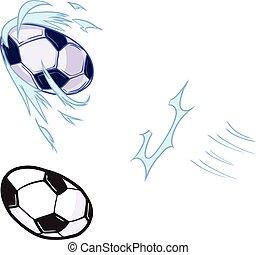 Vector Soccer Ball Kicked Template