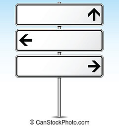 Vector illustration of three directions roadsign concept