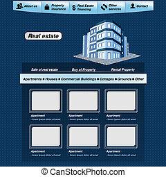 Vector web template, real estate webdesign proposal - EPS 10