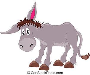 vectors illustration shows a gray donkey