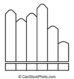 Vertical chart icon, outline style