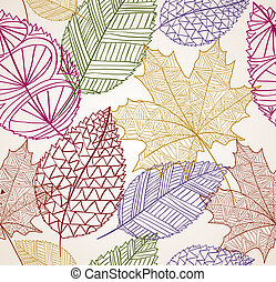 Vintage autumn leaves seamless pattern background. EPS10 file.