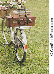 Vintage bicycle on the field