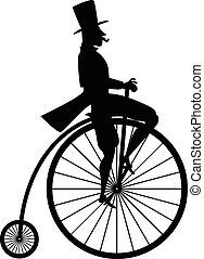 Vintage bicycle silhouette