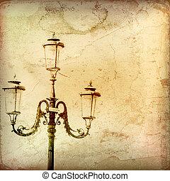 Vintage Gas Light Backround