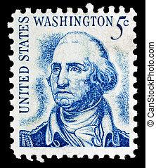 Vintage George Washington USA 5c postage stamp