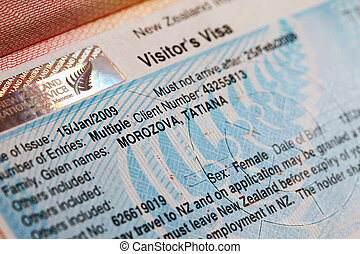 The visa to new Zealand