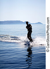 Wakeboarder Silhouette