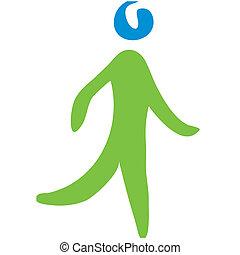 Transportation symbol walking