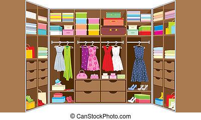 Wardrobe room. Furniture