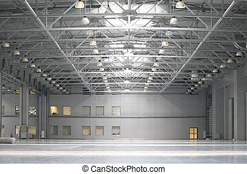 Warehouse in shopping center