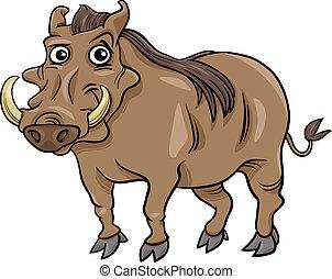 warthog animal cartoon illustration