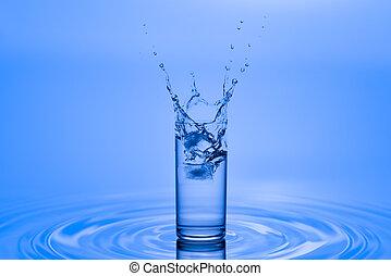 water splash in glass