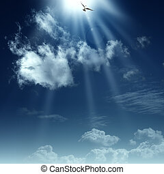 Way to heaven. Abstract spiritual backgrounds for your design