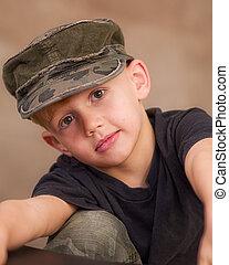 Wearing Army Cap